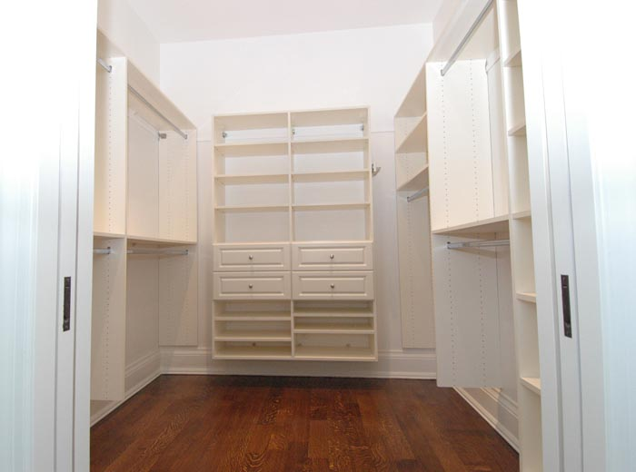 Closet organizers in hanging system