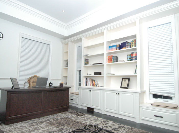 Custom library and home office unit