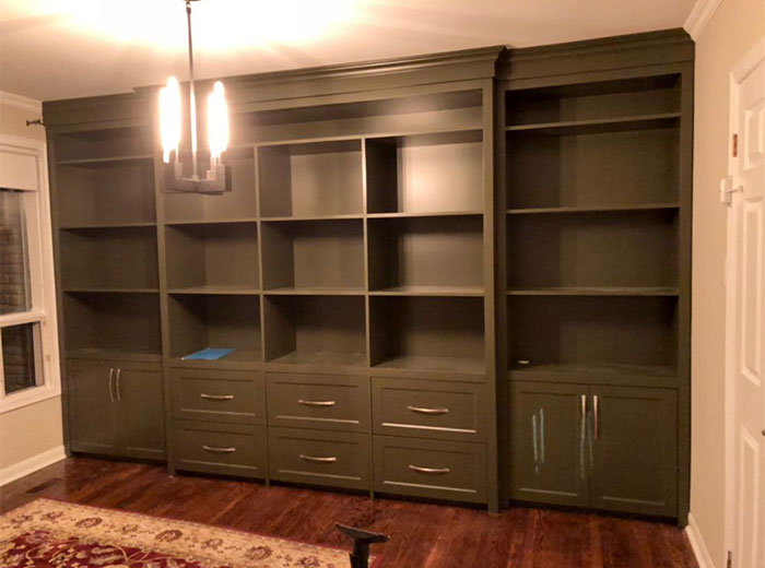 Custom home library unit