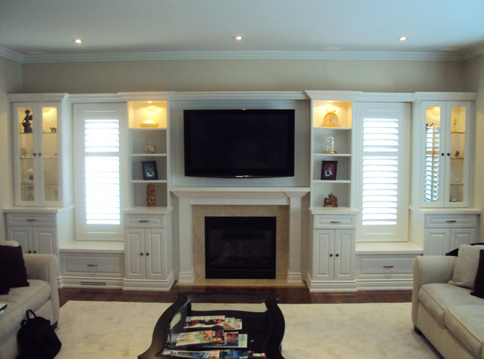 Entertainment centre unit in white
