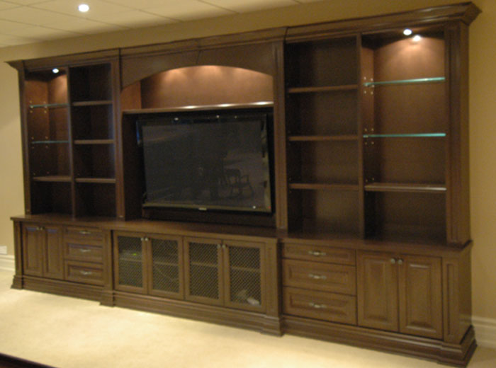 Custom entertainment centre unit