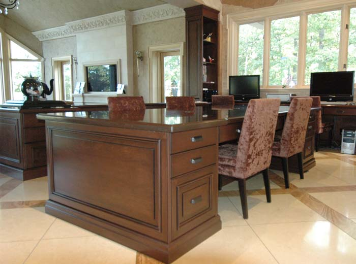 Custom home office desk