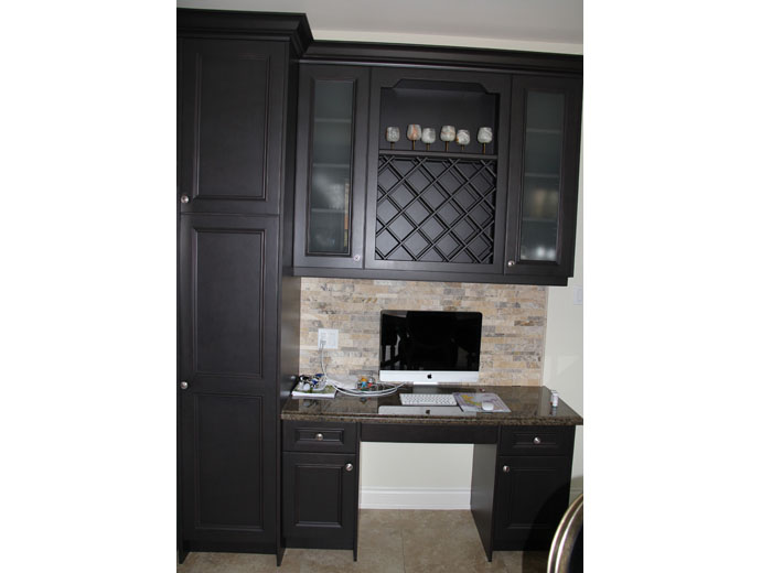 Custom small office in kitchen