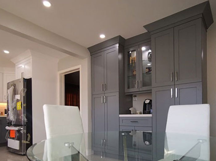 Floor to ceiling custom cabinetry